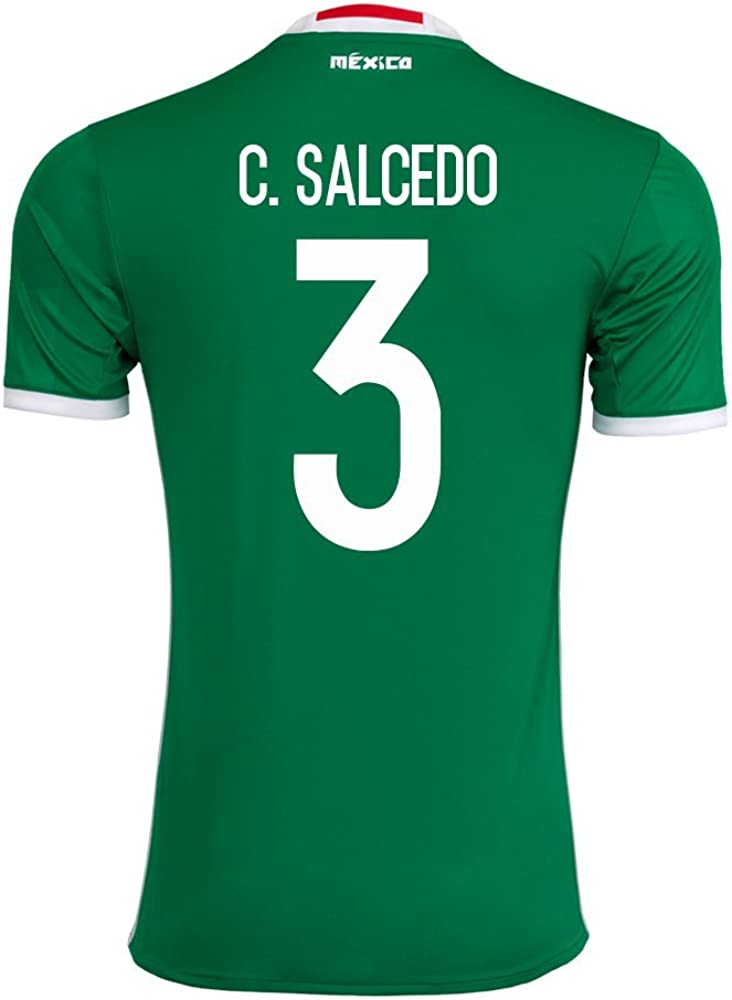 adidas Clothing & Accessories Salcedo #3 Mexico Men's Home Jersey 2016