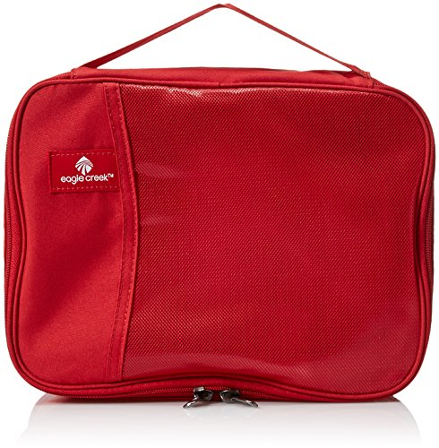 It Zip Travel Socks - Eagle Creek Travel Gear Luggage Pack-it Clean Dirty Half Cube, Red Fire