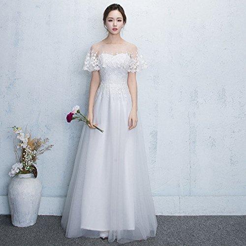 Vestido Sha Vestir Femenino Anual Blanco Xx Negro Elegante Anfitrión Delgada Era Del Largo De Noche Banquete HTdAwT
