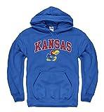 Kansas Jayhawks Adult Arch and Logo Hooded Sweatshirt - Royal ,