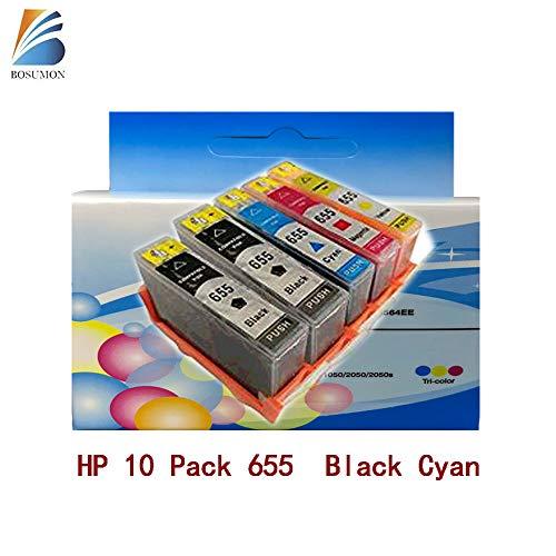 655 Deskjet Ink Advantage 3525/4615/4625/5525/6520/6525 Black Cyan Meganta Yellow|10 Pack ()