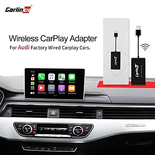 🥇 Carlinkit 2.0 Adaptador inalámbrico CarPlay para Audi A3 A4 A5 A6 A7 Q2 Q7 Q5 2017-2019 El Coche Tiene OEM CarPlay con Cable Convertir a Wireles CarPlay
