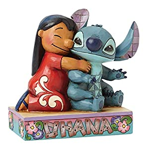 """Disney Traditions by Jim Shore Lilo and Stitch Stone Resin Figurine, 4.875"""""""
