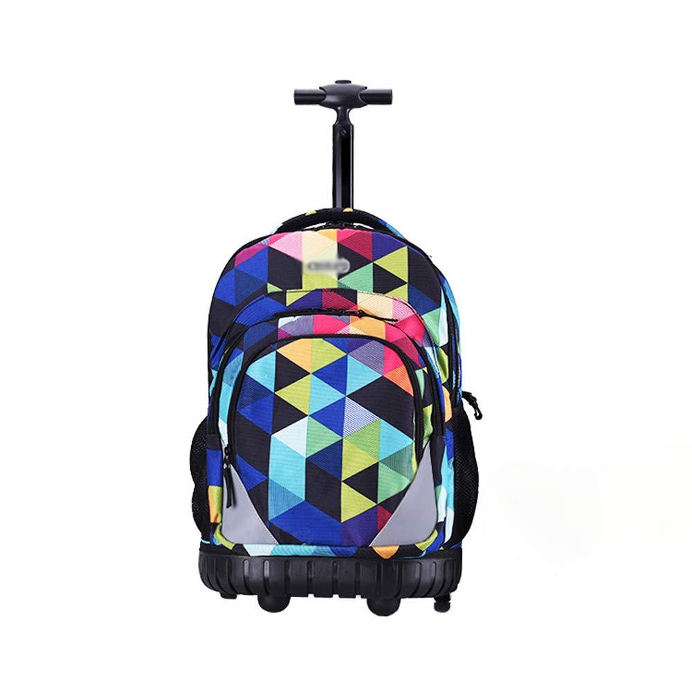 XHHWZB ローリングバックパック キャリーオン荷物スーツケース 19インチ ラップトップ用 17インチ レインカバー付き ブラック (4輪)  A B07HH6N1F3