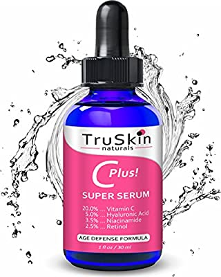 Vitamin C-Plus Super Serum for Face - All-In-One Serum with 20% Vitamin C, Niacinamide, Retinol, Hyaluronic Acid & Salicylic Acid - Reduces Fine Lines, Dark Spots & Evens Skin Tone -1oz
