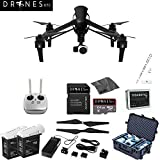 DJI Inspire 1 Carbon Fiber Quadcopter EVERYTHING YOU NEED Kit Includes Go Professional Travel Case + 64GB UHS-I/U3 Micro SDXC Memory Card (SDSDQX-032G-U46A) + Batter Charger & DJI TB48 Intelligent Flight Battery + DJI 1345 Self-Tightening Props + High Speed Memory Card Reader + Drones Etc. Lanyard + Microfiber Cleaning Cloth + Trackimo Tracker!