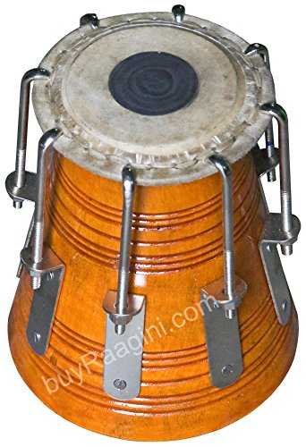 Maharaja Musicals Bengali Khol/Dayan, Tuned by MKS, High Pitch Mahogany Wood Dayan - Tabla, Tuneable to Upper C, Concert Quality, Tabla Drum Instrument (PDI-DIA)