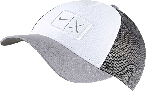 Nike Mesh Golf Hat (L/XL, White/Dark Grey)