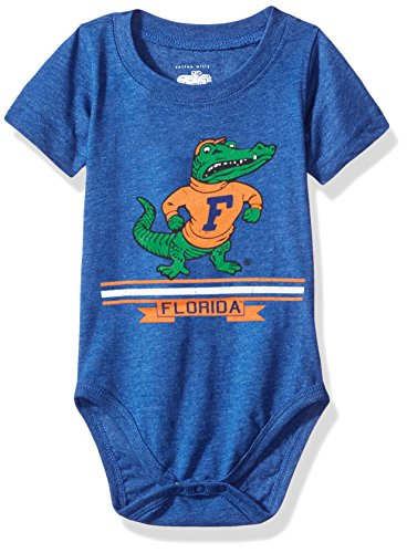 Cotton Willy NCAA Boys Short sleeve Onesie,Florida Gators,Blue Moon,6M