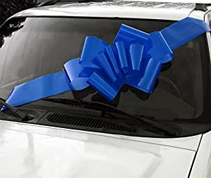 "23"" Blue Car Bow"