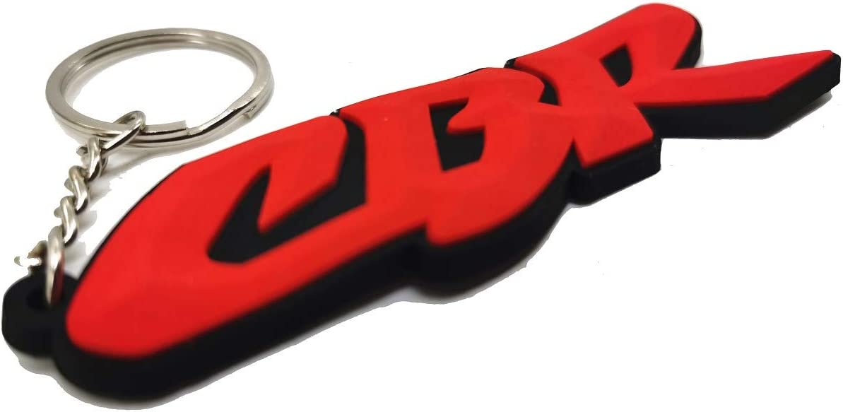 Decor Season Rubber Motorcycle Key Holder Chain Fob Rings for Honda CBR