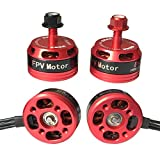 Skytoy 4pcs 2205 2300KV Brushless Motor for FPV Drone Racing Quadcopter 2CW 2CCW Red