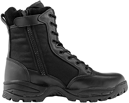 Maelstrom Women's TAC FORCE 8 Inch Military Tactical Duty Work Boot with Zipper, Black, 9 M - Work Composite Toe Boots