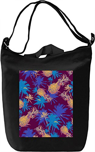 Colourful Tropical Pattern Borsa Giornaliera Canvas Canvas Day Bag| 100% Premium Cotton Canvas| DTG Printing|