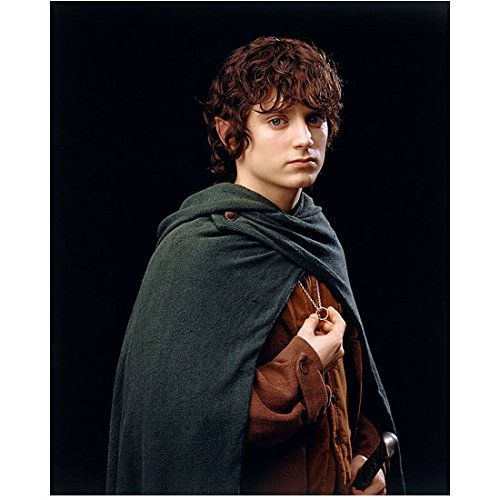 Elijah Wood 8 Inch x 10 Inch photograph Dirk Gently's Holistic Detective Agency The Lord of the Rings films The Good Son Wearing Green & Brown as Frodo Pose 2 kn
