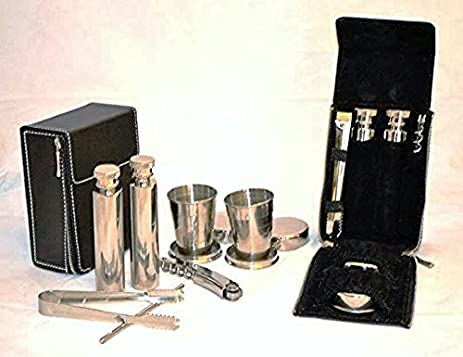 Amazing Mini Travel Bar Set 7 Pieces, Stainless Steel