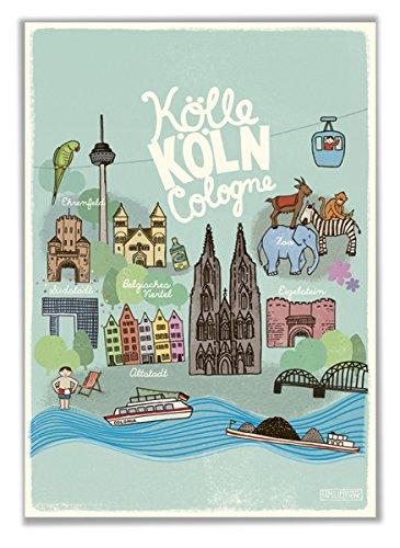 Poster Kinderzimmer Köln DIN A2