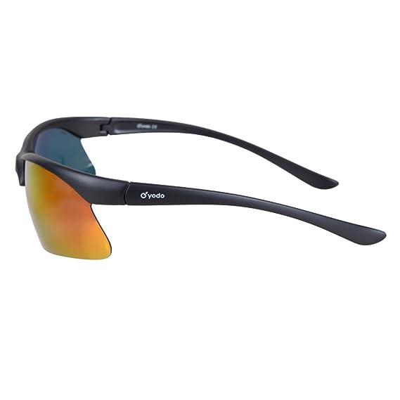 Yodo esterno, occhiali da sole sportivi per uomini donne ciclismo corsa guida pesca con telaio indistruttibile, Royal Blue