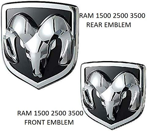 Chrome Hemi Logo Emblem - New Look! Chrome RAM 1500 4X4 Plus Grille Tailgate 5.7 Liter HEMI Emblems Badge Replacement for RAM 1500 2013-2018 Chrome (7pcs. Set) (RAM Front & Rear Logo)