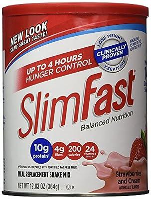 Slim Fast Strawberries & Cream Shake Mix 12.83oz (2 Pack)