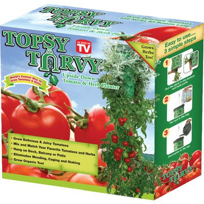 - Upside Down Tomato and Herb Round Planter