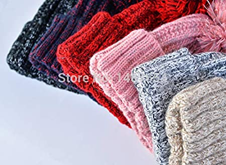 VIKOPER Fashion Autumn and Winter Knitting Wool Hat Men and Women Winter Cap Lovely Hair Ball Beanies Bone Gorros Accessory Colorful New