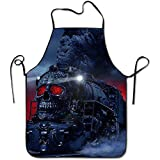 starmiami Steam Trains Fun For Family Woman Cooking Aprons Lightweight Shrinkage Bib Aprons