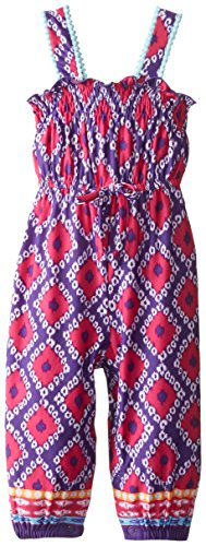 Youngland Baby Girls' Geometric Printed Jumpsuit, Pink/Blue/Multi, 12 Months