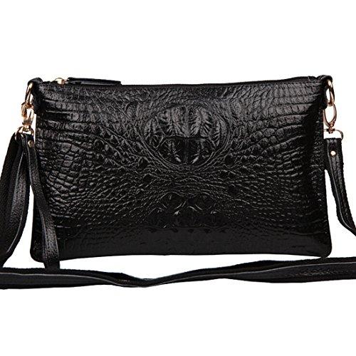 Alligator Crossbody Women��s Handbag SEALINF Clutch Shoulder Bag Leather Black Genuine Hwwqd08