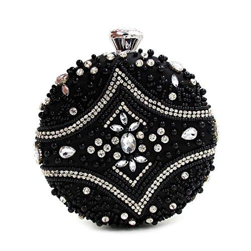 WYB Runde Diamant Perlen Abendtasche / Luxus Heavy Industries / Perlen-Diamant / Kupplung / Abendtasche