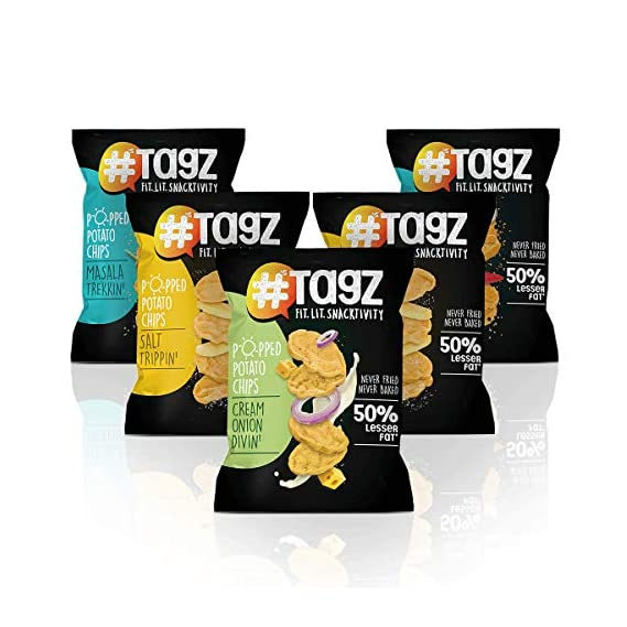 Tagz Popped Potato Chips - Combo 3 (Pack of 5)