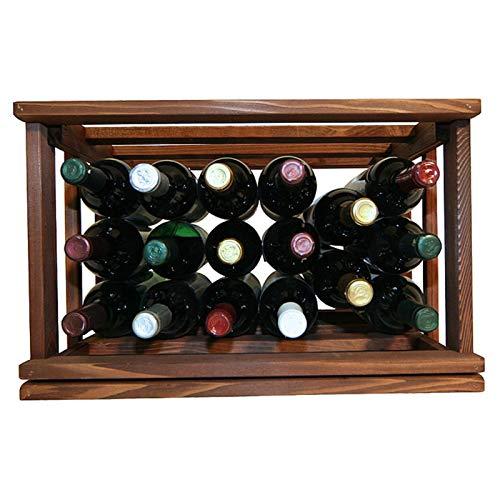 OKSLO Mini stack series open bin wine rack - premium redwood dark walnut stain