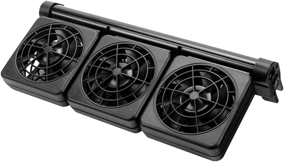 ZZM Ventilador de enfriamiento del Tanque de Peces, Enfriador de Acuario Clooler Refrigerador del Acuario Ventilador Marino Mini Ventilador de Viento