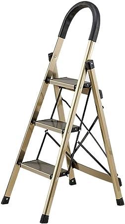 Paso portátil Plegable de Metal de heces de Escalera de Tijera Inicio prácticaFolletosTurismo Baranda, 150KG Capacidad MAX -M12N (Size : 43X60X118CM): Amazon.es: Hogar