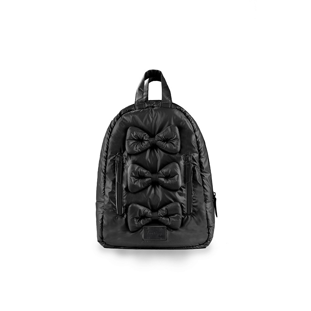 7AM Enfant Mini Bows Backpack, Black 7A.M. Enfant VB012-BK