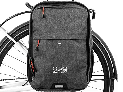 Two Wheel Gear - Pannier Backpack Plus+ (Large) - 2 in 1 - Bike Commuting and Travel Bag (Graphite Grey)