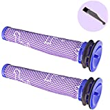 I-clean Dyson Replacement Filter 2 Packs, For Dyson V8 V6 V7 DC58 DC59 DC61 DC62 Vacuum Cleaner Parts,Part # 965661-01 ( With a Free Cleaning Brush)