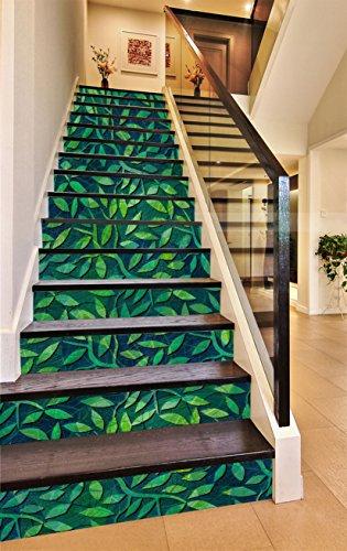 Stair Risers Decoration Photo Mural Vinyl Decal Wallpaper Murals Wallpaper Mural US (15x H:18cm x W:102cm (7