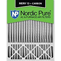 Nordic Pure 20x25x5 (4-3/8 Actual Depth) Honeywell Replacement MERV 13 Plus Carbon AC Furnace Air Filters, Box of 2