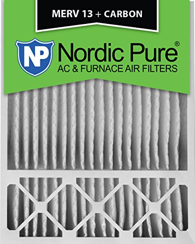 Carbon Furnace (Nordic Pure 20x25x5HM13+C-1 Honeywell Replacement MERV 13 Plus Carbon AC Furnace Air Filter)