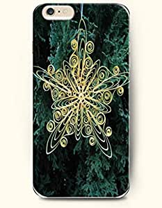 OOFIT Apple iPhone 6 Plus case 5.5 inches - A Hand Made Yellow Snowflake Art