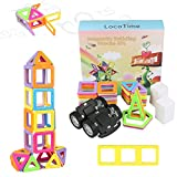 77 PCS Magnetic Building Blocks Construction Set toys and Educational Stacking Toys for Boys and Girls (Children over Three Years Old), New Version, Bigger Size, More Surprise!
