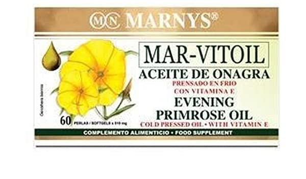 Aceite de Onagra (Mar-Vitoil) 60 perlas de 500 mg de Marnys ...
