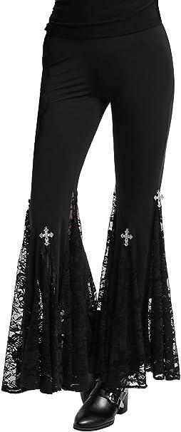 Amazon.com: Pantalones de yoga con encaje de Steampunk ...