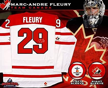 Image Unavailable. Image not available for. Color  Autographed Marc-Andre  Fleury Jersey - Replica ... 0fab090fa
