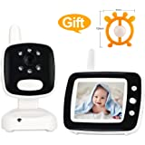 Video Baby Monitor Audio with Camera,Infant Monitor with Infrared Night Vision, 3.5 Inch Color Screen, Two Way Talk Back,Room Temperature, Lullabies, Long Range and High Capacity Battery