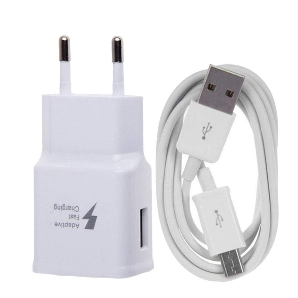 Meisijia Per Android Wall Charger Micro USB Linea cavo da 1, 2 m con caricatore della parete della spina di carica Block Kit EU Plug