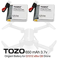 TOZO Lithium battery for Q1012 X8tw Drone RC Quadcopter Remote Quadcopter.[ 2PCS ]