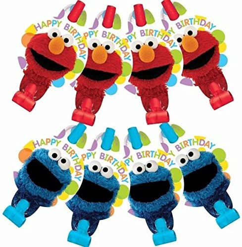 SESAME STREET Elmo Turns One BLOWOUTS ~ Birthday Party Supplies Paper Favor 8