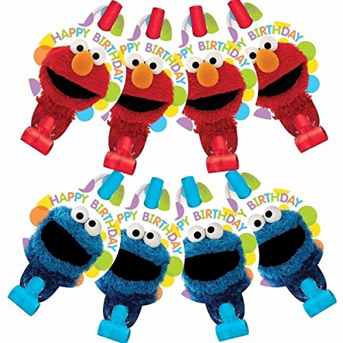 [Amscan Sesame Street Blowouts, 8 Count] (Sesame Street Birthday Party Supplies)